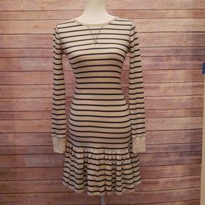 Polo Ralph Lauren Stripe Thermal Drop Waist Dress